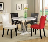 Belliz Contemporary White Lacquer Table Casual Dining Set ...