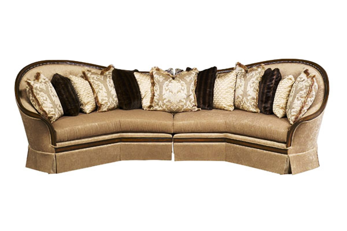 solid wood sofa set plastic cushion covers luna exposed frame sectional with pillows