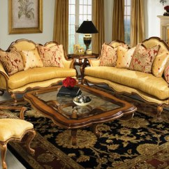 Antique Living Room Chair Styles Dutailier Rocking Uk Nicolina Goldenrod Traditional Formal Style Sofa Set