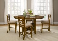 Bistro Honey Finish Round Counter Height Dining Set