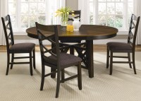 Bistro Two Tone Oval Casual Dining Furniture Set