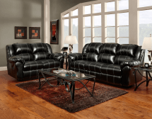 black bonded leather casual motion