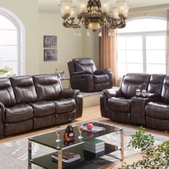 Brown Leather And Fabric Sectional Sofa World Free Delivery Code Braylon Reclining Loveseat Set In
