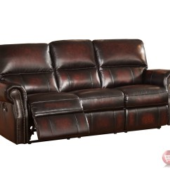 3pc Recliner Sofa Set Button Tufted Sofas Brooklyn Burgundy Lay Flat Reclining In Top