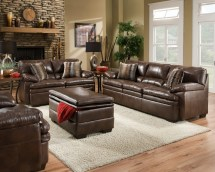 brown bonded leather sofa set casual