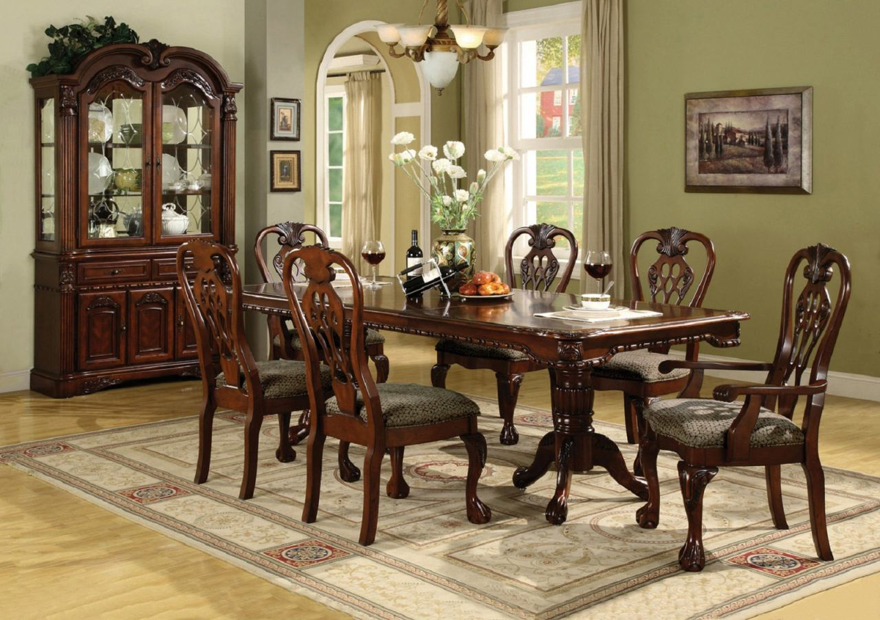 Traditional Dining Room Chairs Brussels Dining Room Set Crown Mark Dining Table
