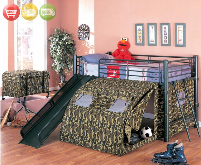 camo living room set good wall colors camouflage tent loft bed | kids fort bunk