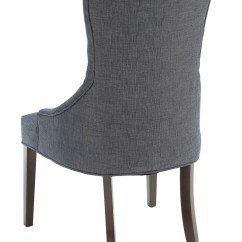 Tufted Blue Chair Cover Factory Coupon Caprice Button Grey Linen Accent