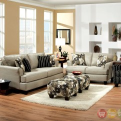 The Sofa And Chair Company Genuine Leather Sofas In South Africa Cardiff Contemporary Light Gray Floral Fabric Living ...