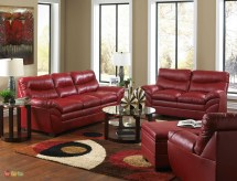 casual contemporary red bonded