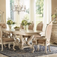 Antique French Dining Table And Chairs Desk Chair Armrest Chateau De Lago 5 Pc 84 155 Set In Blanc White