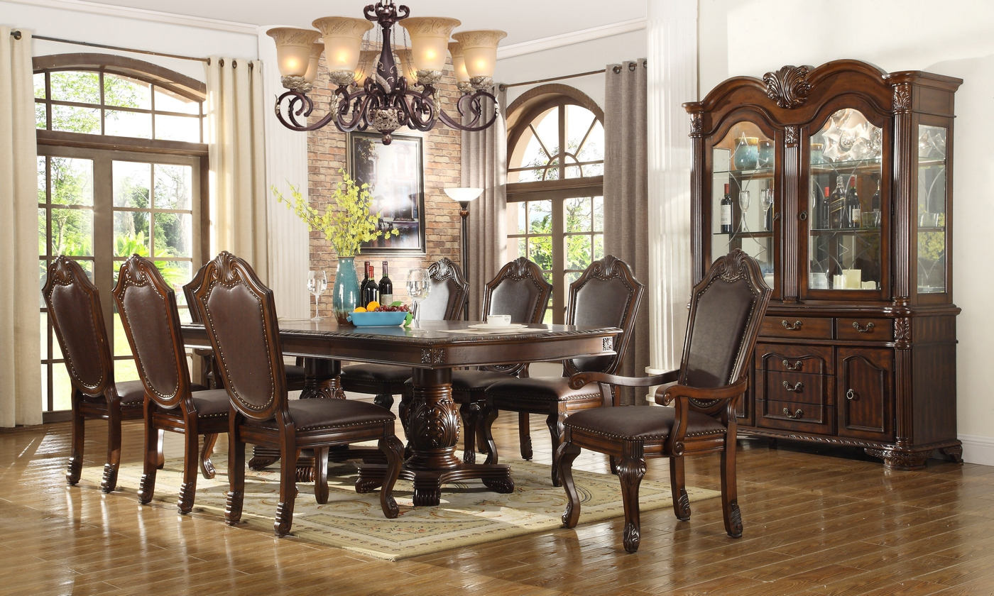 Chateau Traditional Formal Dining Room Furniture SetFree ShippingShopFactoryDirectcom