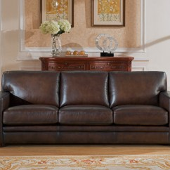 100 Genuine Leather Sofa Studio Apartment Bed Chatsworth Casual In Hand Rubbed