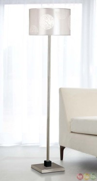 Cordova Brushed Steel Accent Drum Shade Floor Lamp