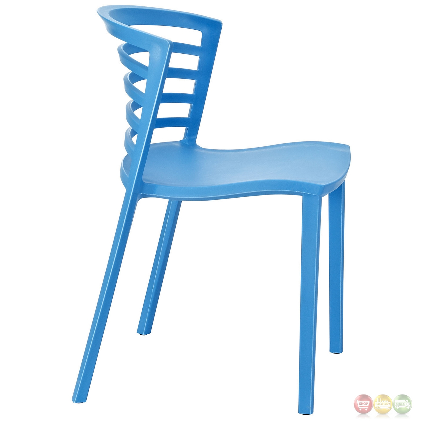 white multi purpose salon chair the unusual company rogate curvy modern molded plastic side blue