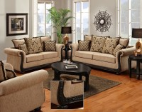 Chenille Sofa and Loveseat | Taupe Love Seat | Shop ...