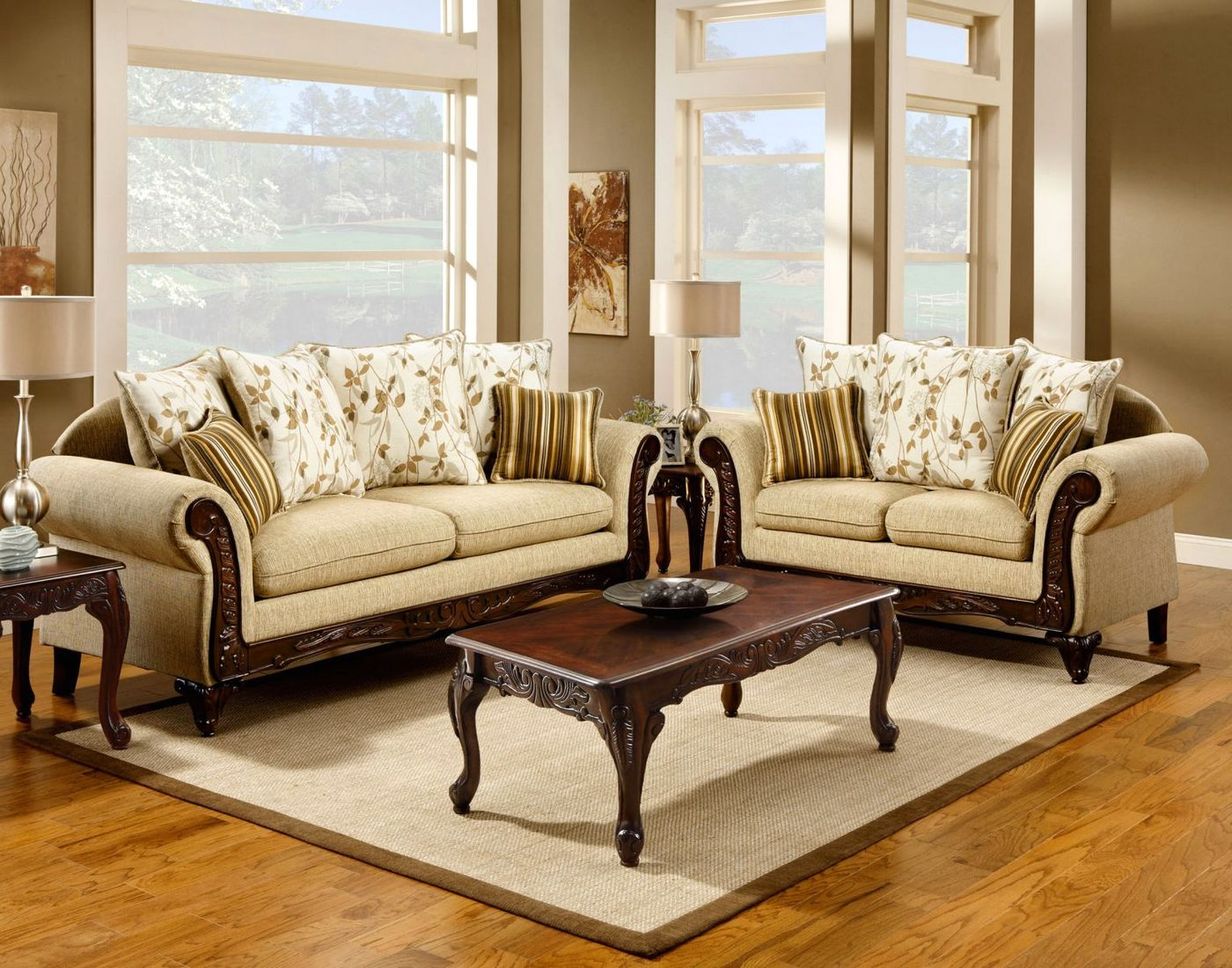 most durable sofa brands white leather doncaster traditional desert sand living room set with