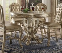 """Dresden Formal Carved Wood 48"""" Counter Height Dining Table ..."""