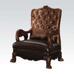 Gold Velvet Chair Baseball Glove Leather Dresden Victorian Tufted In And Cherry