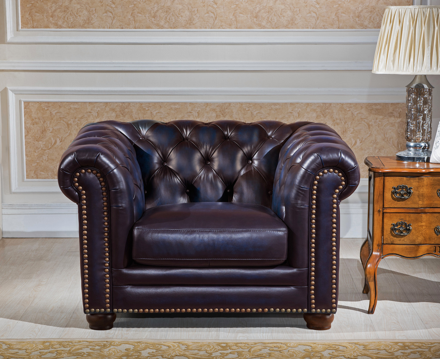 navy leather chesterfield sofa sofas with deep seats dynasty 100 genuine and two