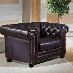 Navy Leather Chesterfield Sofa Art Van Dynasty 100 Genuine And Two