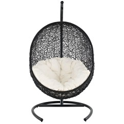 Swinging Outdoor Chair White Wedding Chairs Encase Contemporary Modern Patio Swing Suspension Series