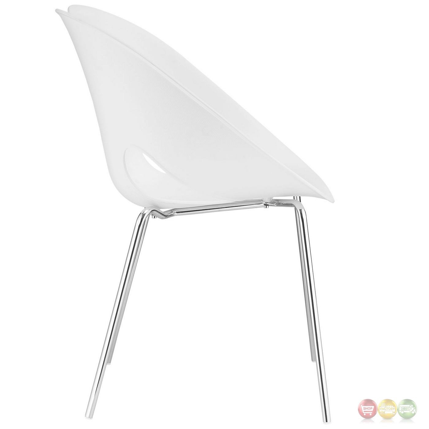plastic chairs with steel legs chicco 360 high chair envelope winged back dining side