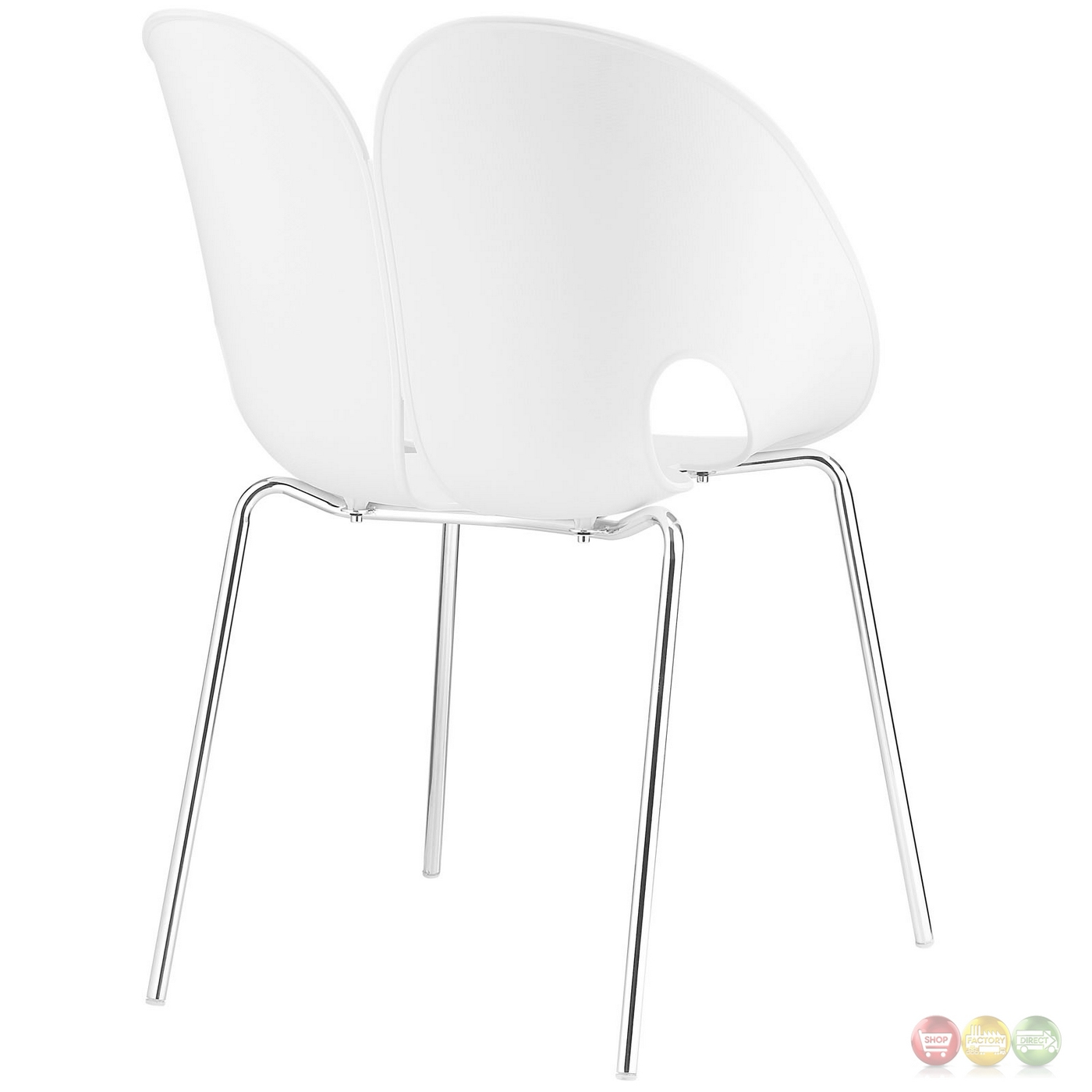 plastic chairs with steel legs white dining johannesburg envelope winged back side chair