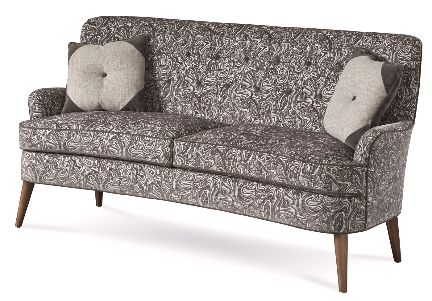 charcoal gray tufted sofa white leather bed sale patterned eclectic shop factory direct