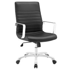 Office Chair Vinyl Amazon Covers Finesse Modern Upholstered Ribbed Mid Back