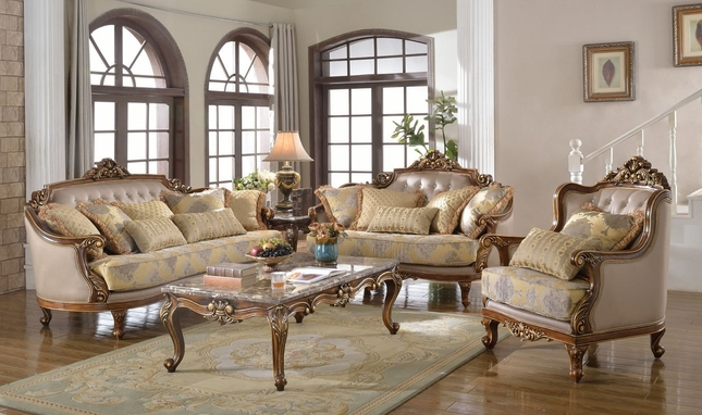 Fontaine Traditional Living Room Set Sofa Love Seat Chair