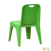 Green Plastic Stackable School Chair with Carrying Handle ...