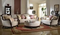 French Provencial Cabriole Style Chenille Upholstered Sofa ...