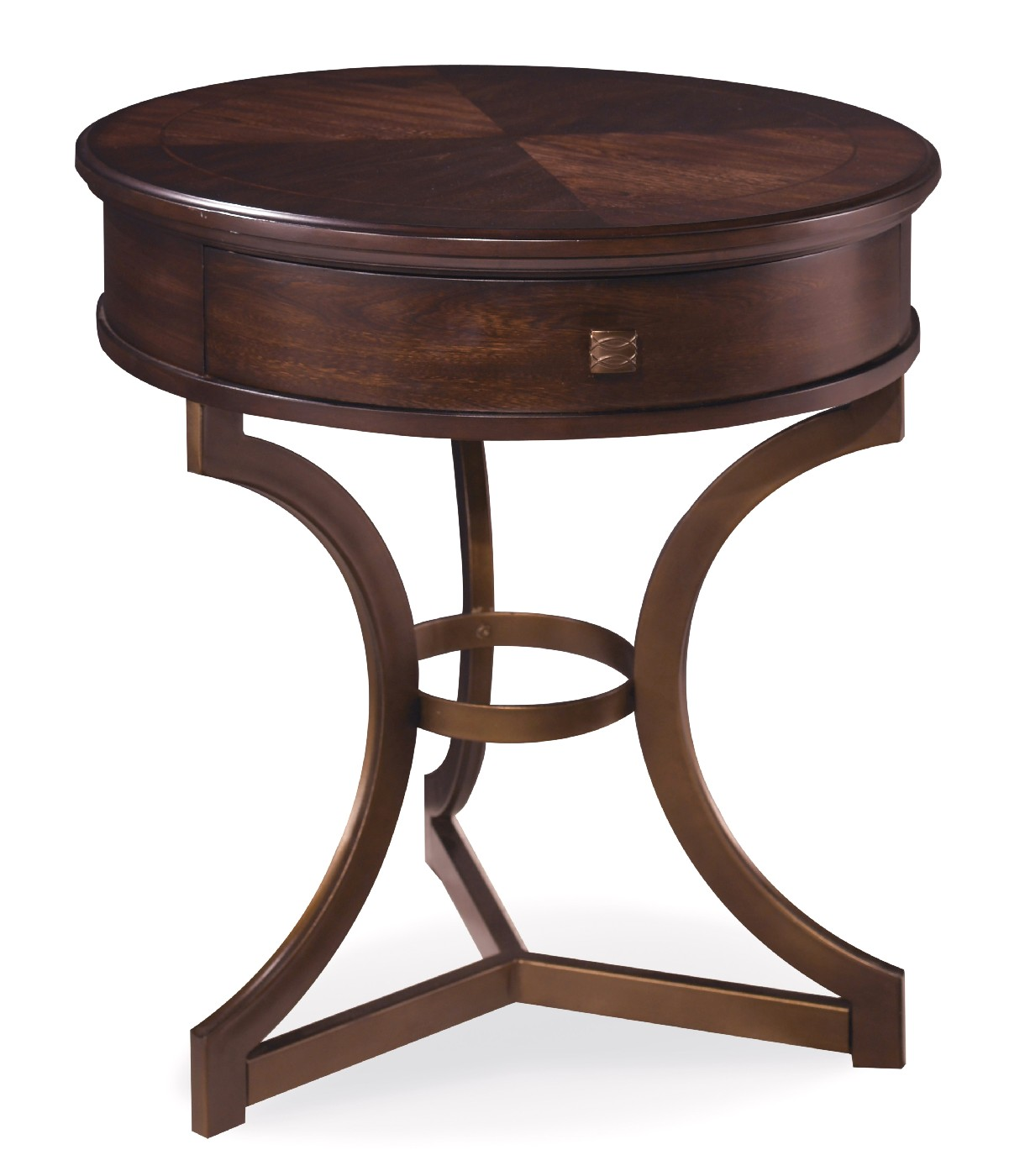 Chair Side Table With Storage Intrigue Harper Round Wood Chair Side Table Bronze Base