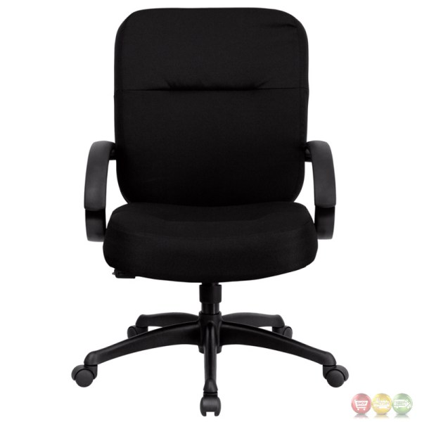 tall adjustable office chair Hercules Big & Tall Black Fabric Office Chair W/ Wide Seat
