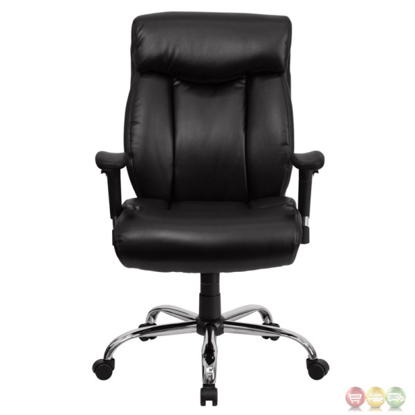 tall adjustable office chair Hercules Big & Tall Black Leather Swivel Office Chair W
