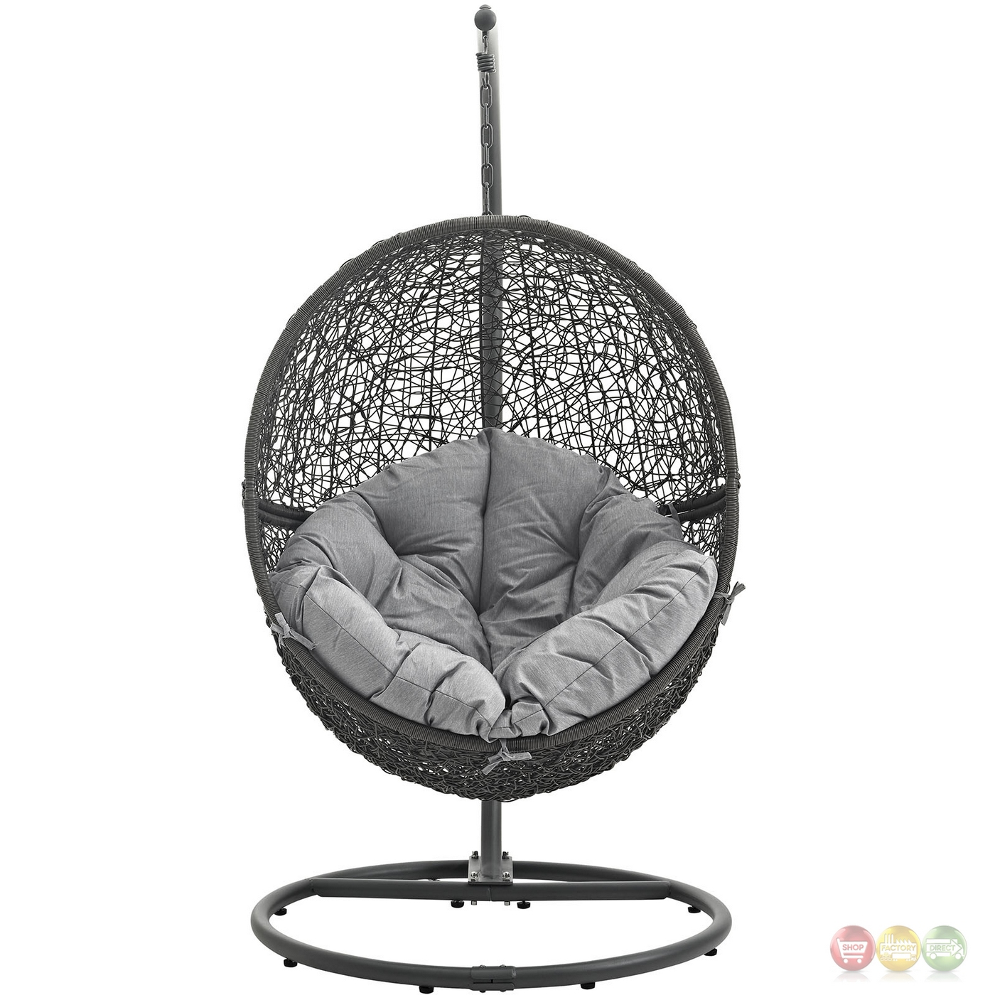 swing chair grey fishing aliexpress hide casual outdoor patio rattan weaved w