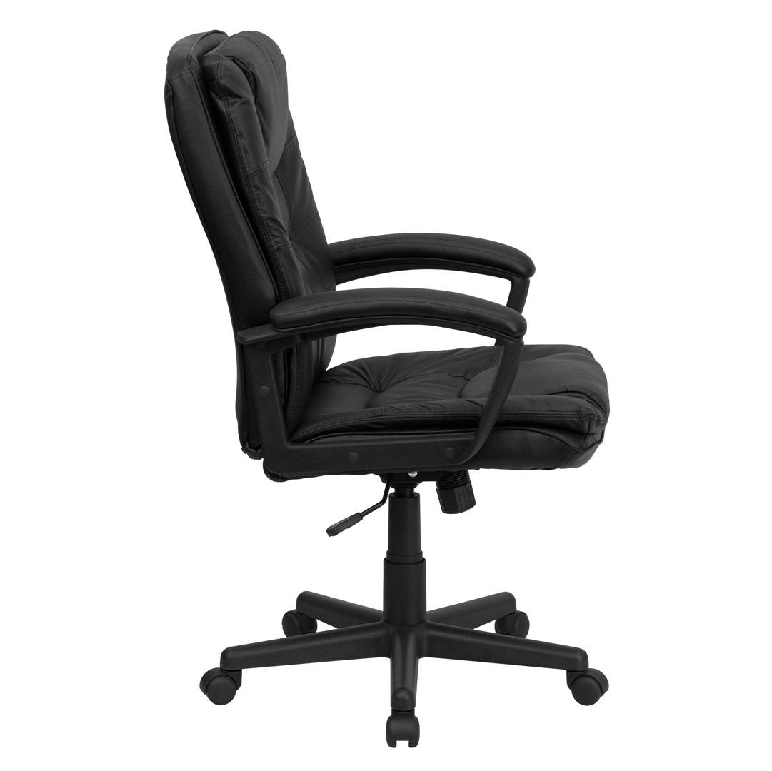 swivel office chair plans card tables with chairs high back black leather executive bt