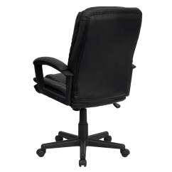 Swivel Office Chair Plans Desk Lumbar Support Pillow High Back Black Leather Executive Bt