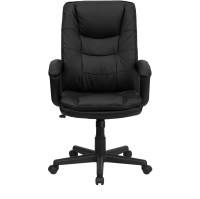 High Back Black Leather Executive Swivel Office Chair BT ...