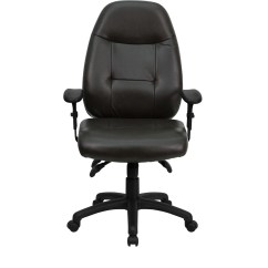 Executive Brown Leather Office Chairs Dark Walnut Dining High Back Espresso Chair Bt