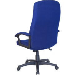Navy Office Chair Pictures Of Rocking Chairs On Porches High Back Blue Fabric Executive Swivel
