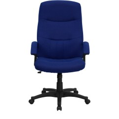 Navy Office Chair Exercise Ball As Desk High Back Blue Fabric Executive Swivel