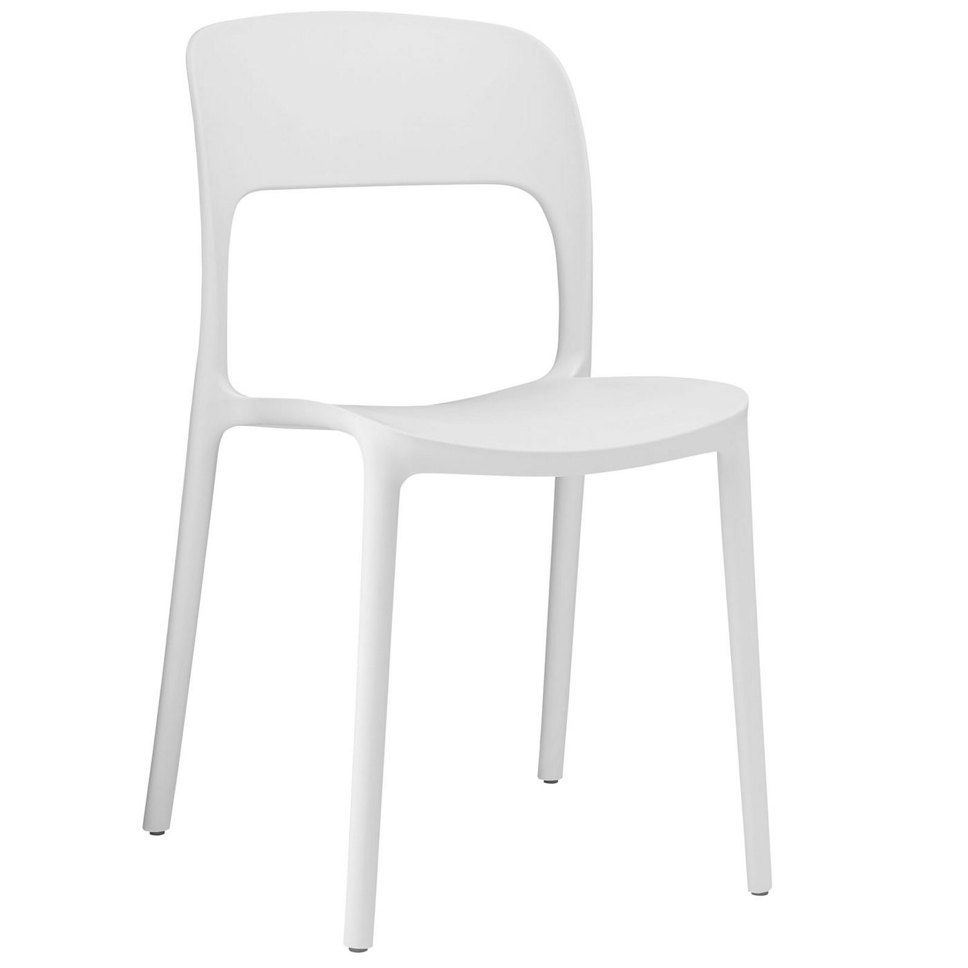 white stacking chairs plastic slipcovers for wingback with t cushion hop modern stackable dining side chair