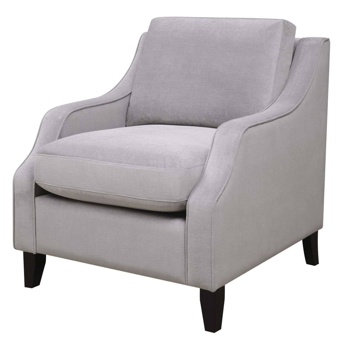 Grey Upholstered Chair Isabelle Soft Grey Upholstered Feather Down Chair