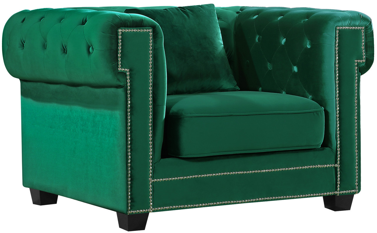 green velvet tufted chair accent chairs under 100 00 jace modern button w wood legs