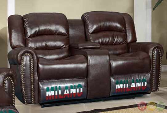 Jacob Brown Bonded Leather Motion Traditional Living Room