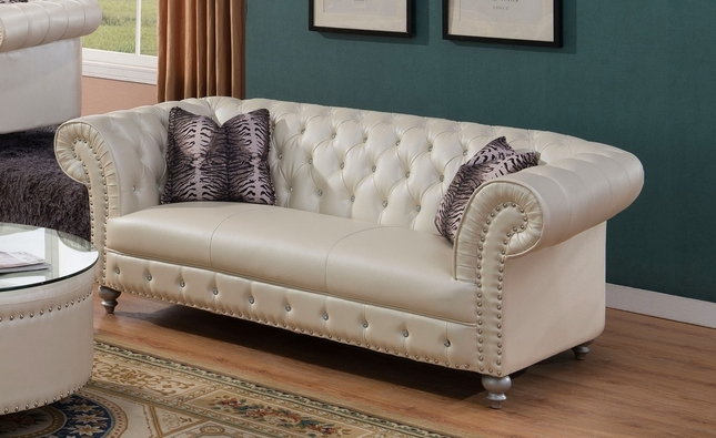 glam sofa set design pictures josephine crystal tufted chesterfield in beige bonded leather