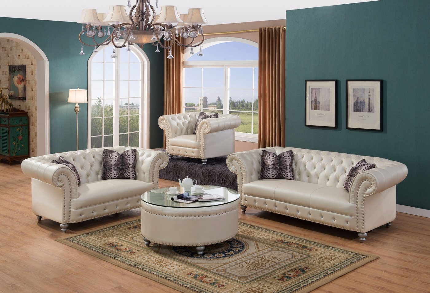 glam sofa set juegos bash 2 josephine crystal tufted chesterfield in beige