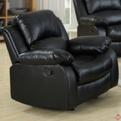 Black Bonded Leather Chair Fuf Cover Kaden Reclining Sofa And Loveseat Set